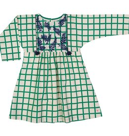 Pink Chicken bette dress- green check