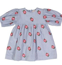 Pink Chicken bea dress- blue rose