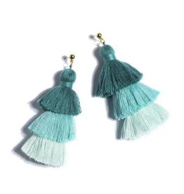 Shiraleah aria earrings- aqua