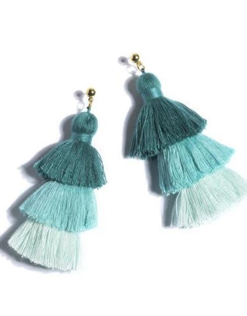 Shiraleah aria earrings- aqua