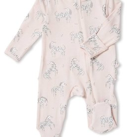 Angel Dear zebra footie (zip)
