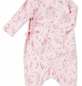 Angel Dear wildwood wrap coverall- 0-3 months