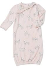 Angel Dear zebra gown- 0-3 months