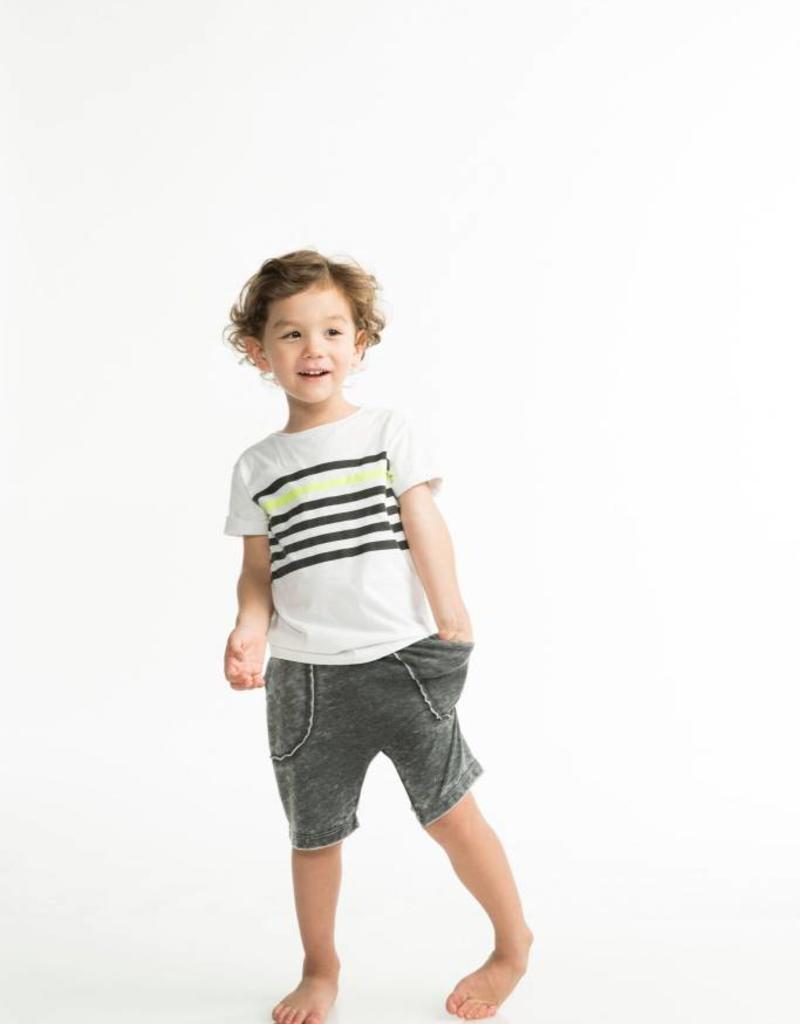 Joah Love cruz stripe tee- white
