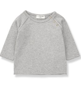 1+ in the Family eneko t-shirt- mid grey/ecru