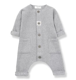 1+ in the Family kilian jumpsuit- mid grey