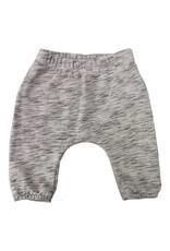 Go Gently Nation french terry baby pant- salt & pepper