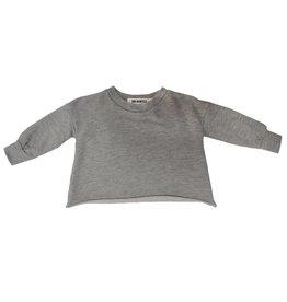 Go Gently Nation puff sleeve sweatshirt- heather grey