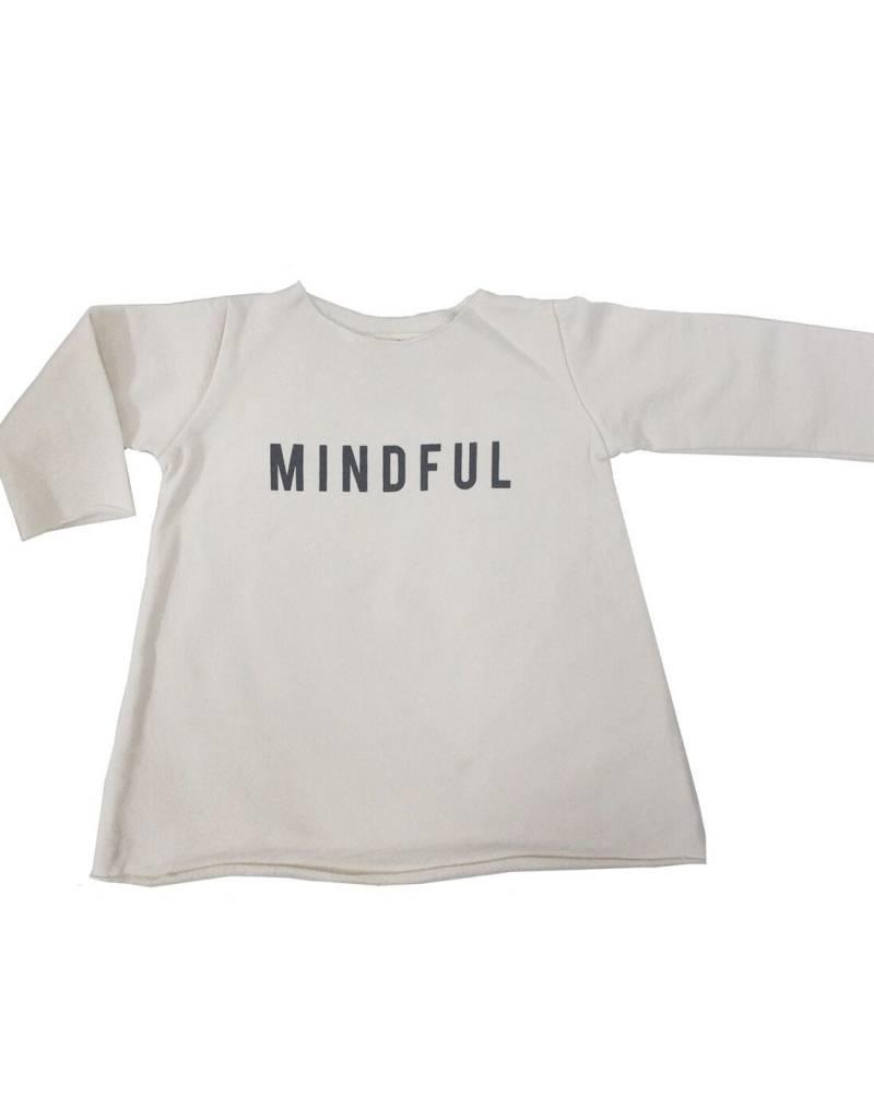 Go Gently Nation fleece mindful dress- natural