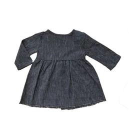 Go Gently Nation baby prairie dress- navy stripe