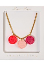 Meri Meri love hearts necklace