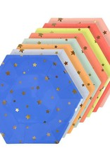 Meri Meri multi color stars plate large