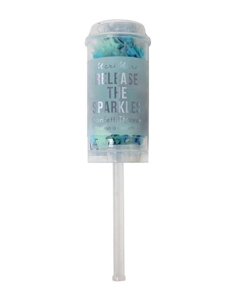 Meri Meri blue confetti popper