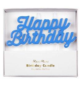 Meri Meri happy birthday candle- blue