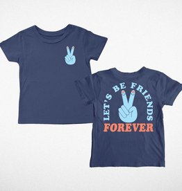 Tiny Whales let's be friends tee
