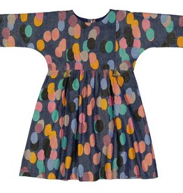 Pink Chicken bette dress- multicolor dot