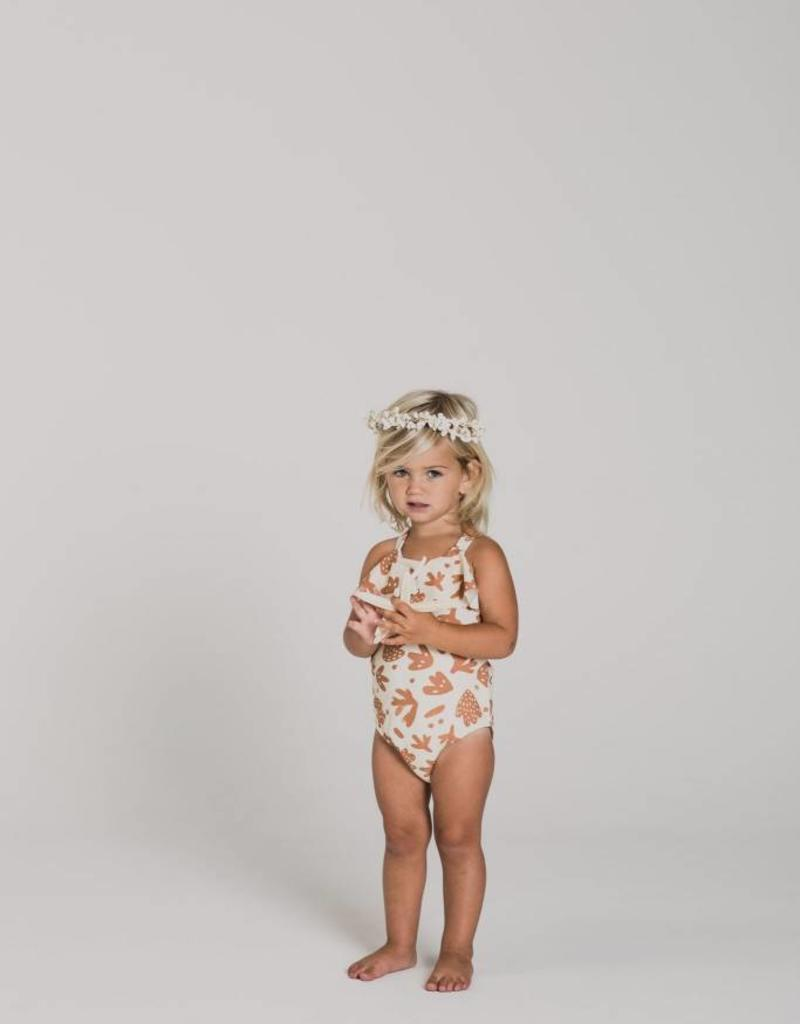 Rylee and Cru baby sealife swimsuit- ivory