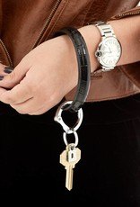 Big O Key Ring back in black crocodile