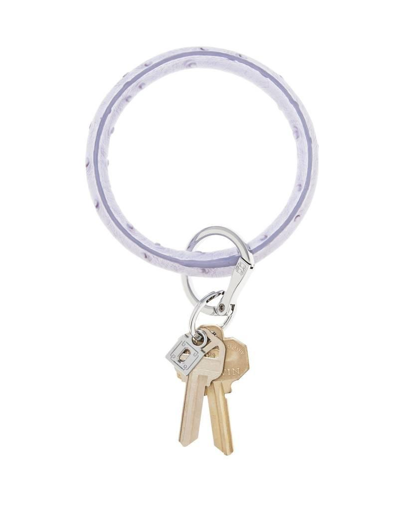 Big O Key Ring lavender ostrich