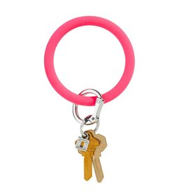Big O Key Ring tickled pink silicone