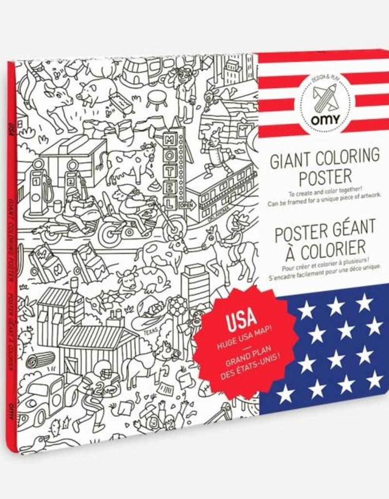 OMY giant coloring poster- USA