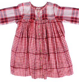Lali Kids cleo dress- red checks