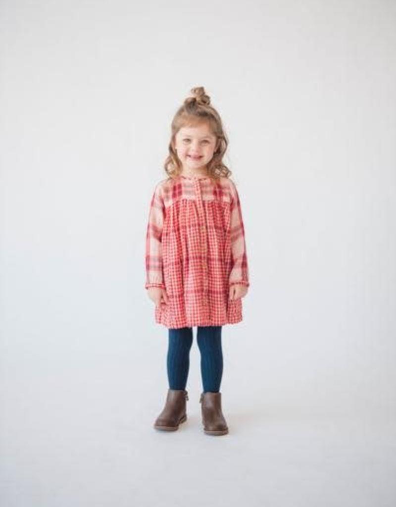 Lali Kids cleo dress- red checks