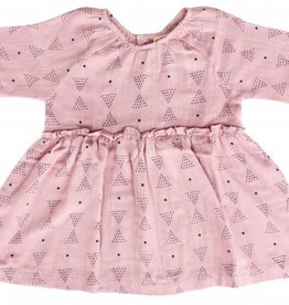 Lali Kids mallory dress- pink triangles