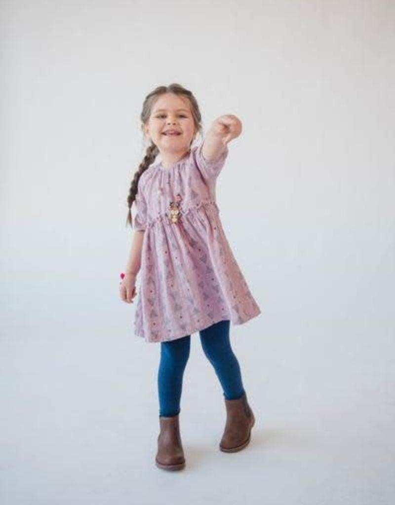 Lali Kids mallory dress- pink triangles