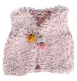 Lali Kids fur vest- pink