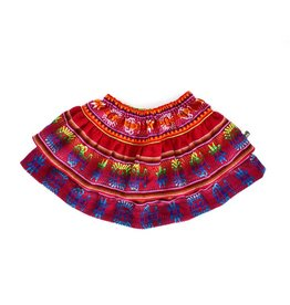 Folklore julia layered skirt- cherry