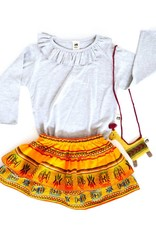 Folklore julia layered skirt baby- marigold