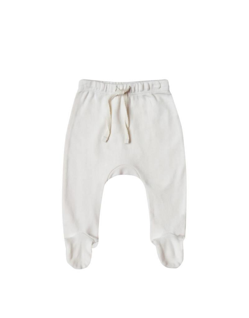 Quincy Mae footed pant- ivory