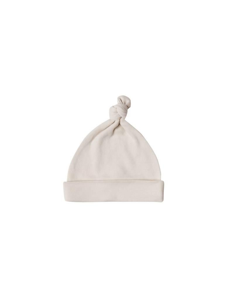 Quincy Mae knotted baby hat- bone