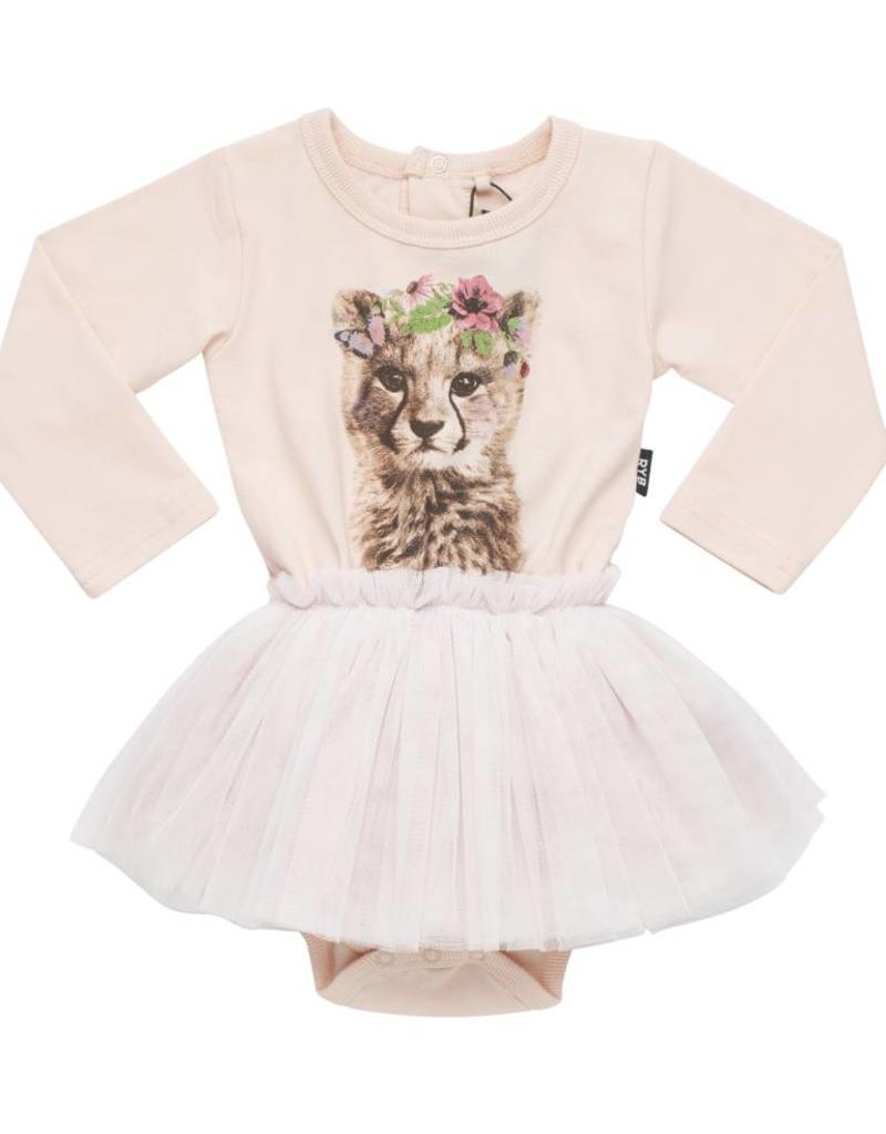 Rock Your Baby floral cheetah tutu baby