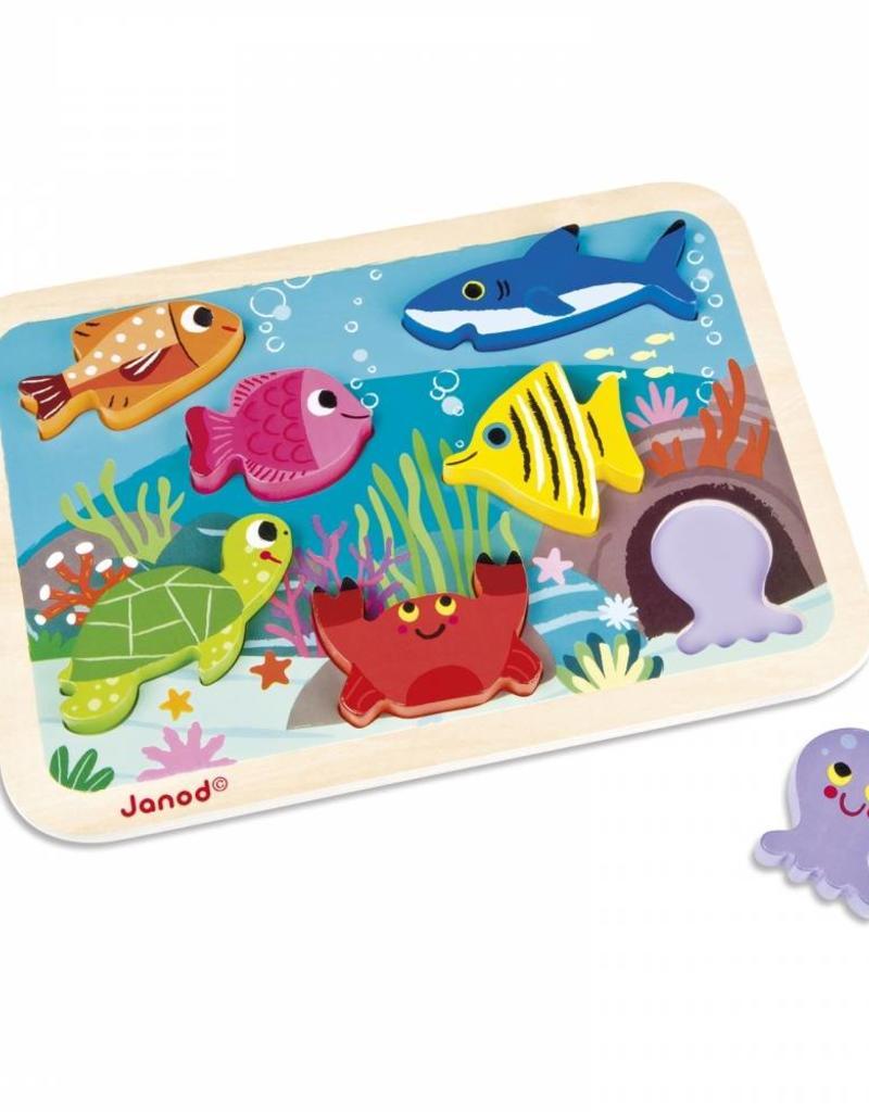 Janod chunky puzzle- marine
