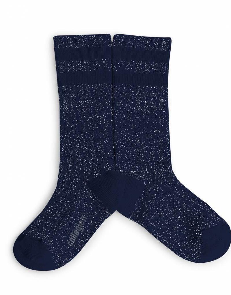 Collegien glitter varsity socks- night