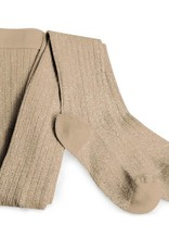 Collegien glitter ribbed tights- taupe