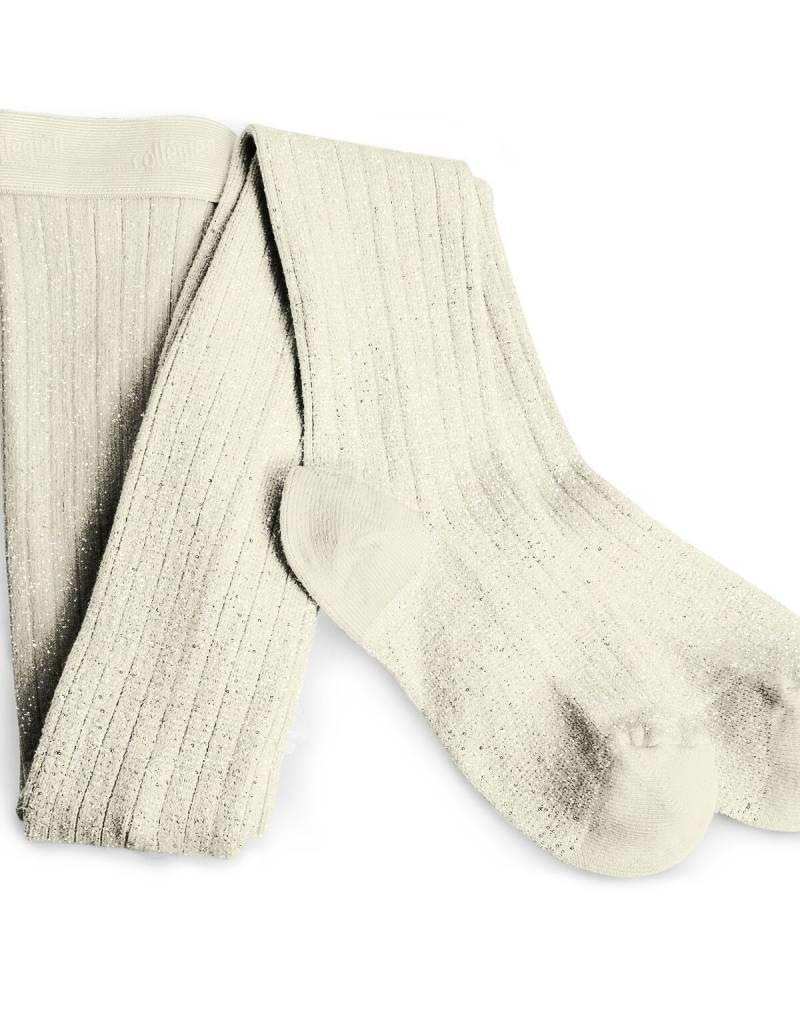 Collegien glitter ribbed tights- soft lamb