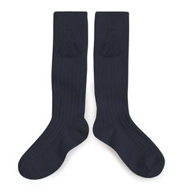 Collegien tassel knee socks- night