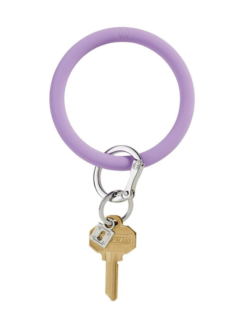 Big O Key Ring in the cabana silicone