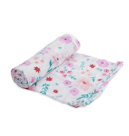 Little Unicorn cotton muslin swaddle- morning glory