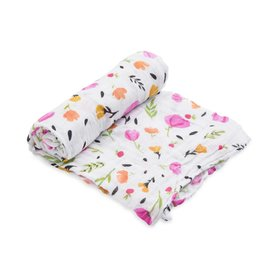 Little Unicorn cotton muslin swaddle- berry & bloom