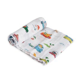 Little Unicorn cotton muslin swaddle- food truck