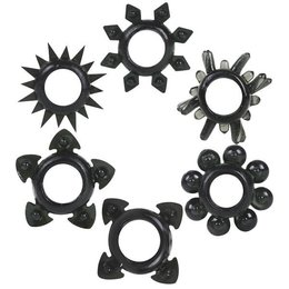 Doc Johnson Tower of Power Stretch-To-Fit Cock Rings