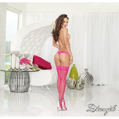 "Dreamgirl ""Milan"" Neon Fishnet Stocking with Backseam OS"
