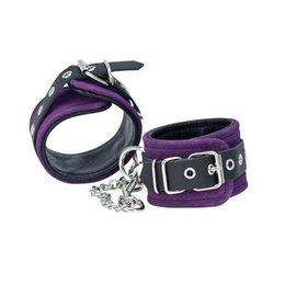 Punishment Purple Suede Ankle Cuffs