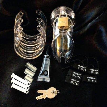 CB-X CB-X CB-6000 Male Chastity Device - Clear