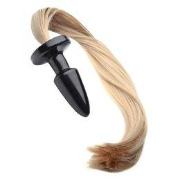 XR Brands Tailz Pony Tail Anal Plug - Blonde