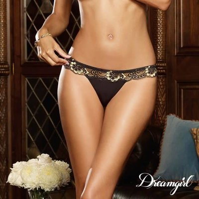 "Dreamgirl ""Glamour Goddess"" Cross-Dye Lace Thong"